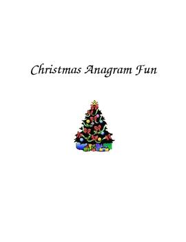 Christmas Anagram Fun