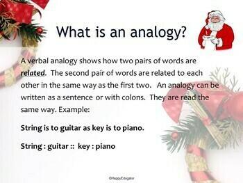 Christmas Analogies PowerPoint