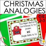 Christmas Analogies for Grades 1-3  Task Cards
