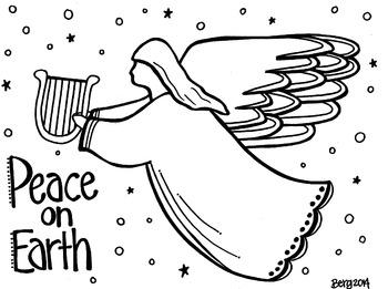 Christmas Angel Coloring Sheet
