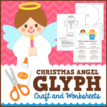 Christmas Angel Glyph Craft and Worksheets