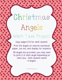 Christmas Angel Math Task Project - Common Core Aligned