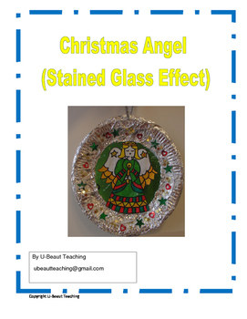 Angel Christmas Stained Glass