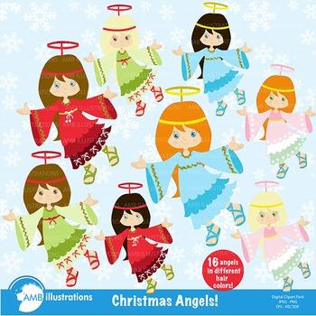 Christmas Angel Clipart AMB-572