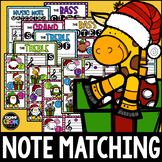 Christmas Animals Music Notes Center, Matching, Posters, T