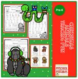 Christmas Animals Tracing Fun