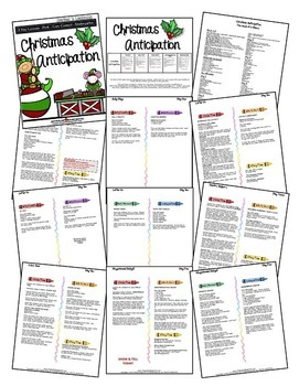 Christmas Anticipation (5-day Thematic Unit) Includes Patterns and Printables
