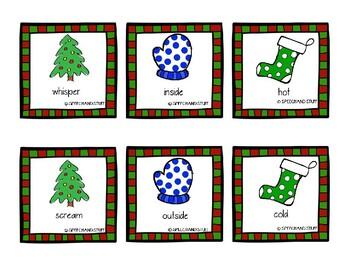 Christmas Antonyms Match Game!