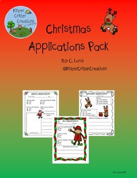 Christmas Applications Pack