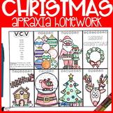 Christmas Apraxia Homework