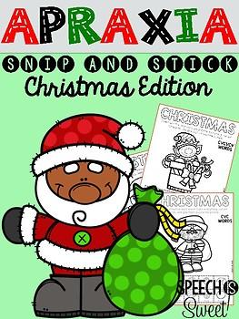 Christmas Apraxia: Snip and Stick!