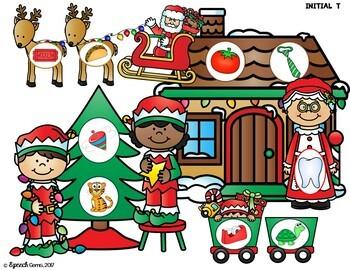 Christmas Apraxia Syllables and Early Articulation Sounds Dough Smash Mats
