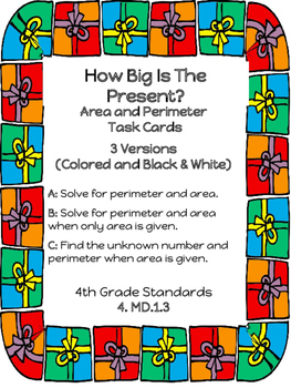 Christmas Area and Perimeter Task Cards
