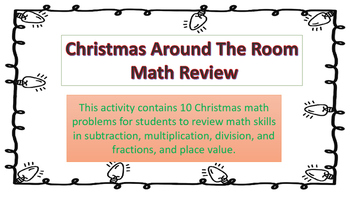 Christmas Around The Room Math Review