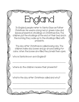 Christmas Around The World 13 Day Activity Packet
