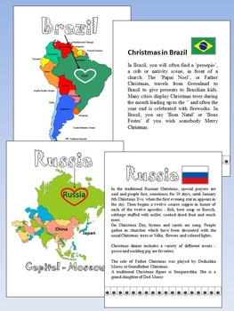 Christmas Around  The World - 20 Countries - Quiz - Christmas Poems