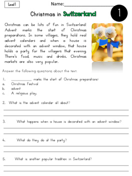 Christmas Around The World 3 Nonfiction Reading Passages
