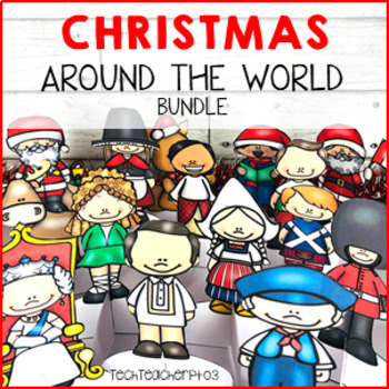 Christmas Around the World Bundle Maps, Flags, Information Cards & Recipes
