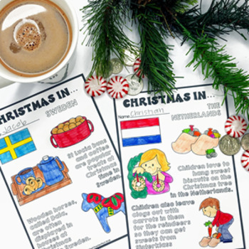 Christmas Around the World Bundle Flags Maps Holiday Traditions
