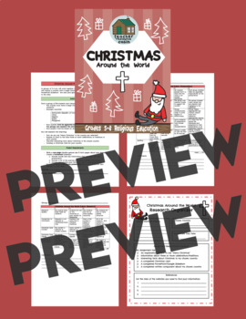 Christmas Around The World (Grades 5-8 Religious Education Project)
