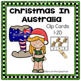 Christmas Around The World Australia - Christmas Counting Clip Cards