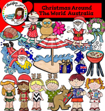 Christmas Around The World: Australia Clip Art- Color/ black&white-41 items!