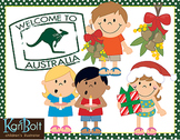 Christmas Around The World Australia/England Clip-Art