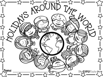 Christmas Around The World Book Cover and Coloring Page ...