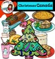 Christmas Around The World: Canada Clip Art- Color and B&W-
