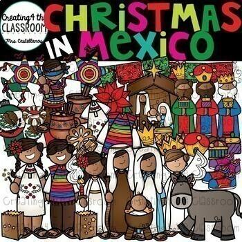 Christmas Around The World Clipart Growing Bundle {Christmas Clipart}