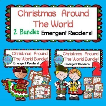 Christmas Around The World Unit Emergent Readers Big Bundle Christmas ESL