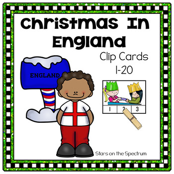 Christmas Around The World England-Christmas Around The World Counting Clip Card