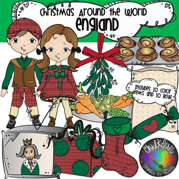 Christmas Around The World England Clipart