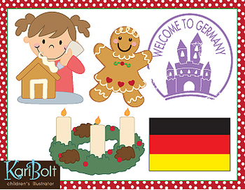 Christmas Around The World Europe Clip-Art