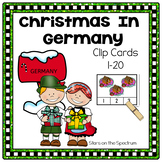 Christmas Around The World Germany-Christmas Around The World Counting Clip Card