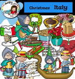 Christmas Around The World: Italy Clip Art- Color/ black&white-38 items!