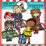 Christmas Around The World-Kids- Color/ black&white FREE!