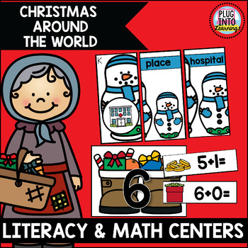 Christmas Around The World Literacy and Math Centers