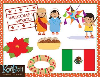 Christmas Around The World Mexico/Brazil Clip-Art