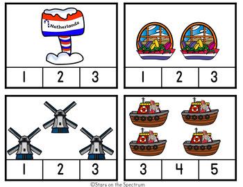 Christmas Around The World Netherlands-Christmas Around The World Counting Cards