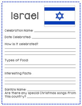 Christmas Around The World Note-Taking Sheet