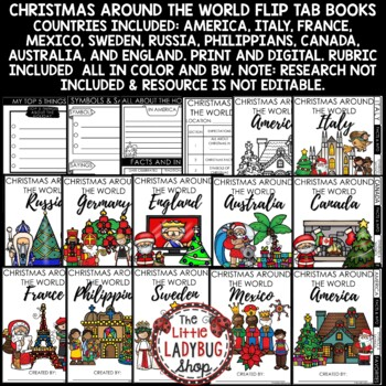 Christmas Around The World Research Flip Books- Winter Holidays Around the World