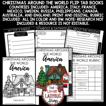 Winter Holidays Around The World & Christmas Around The World Research Project