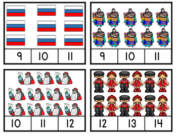 Christmas Around The World Russia-Christmas Around The World Counting Clip Card