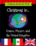 Christmas Around The World Set 1 - United Kingdom, France, Mexico w/ Passports