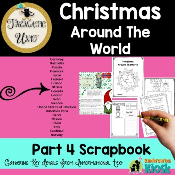 Christmas Around The World Thematic Unit: Scrapbook Pages