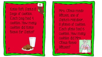 Christmas Around the Room: Multiplication, Division and Estimation Activity