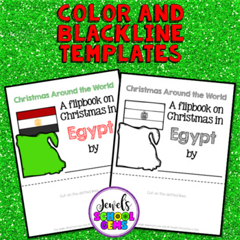 Christmas Around the World Research Activities (Christmas in Egypt Flipbook)