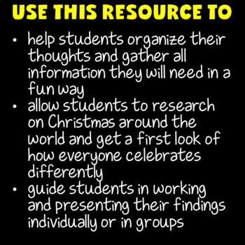 Christmas Around the World Research (Christmas Around the World Activities)