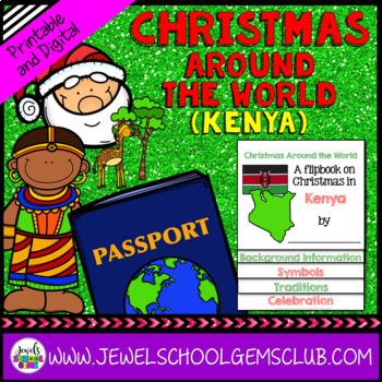 Christmas Around the World Research Activities (Christmas in Kenya Flipbook)